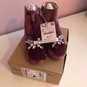 Zara ankle boots for little girls